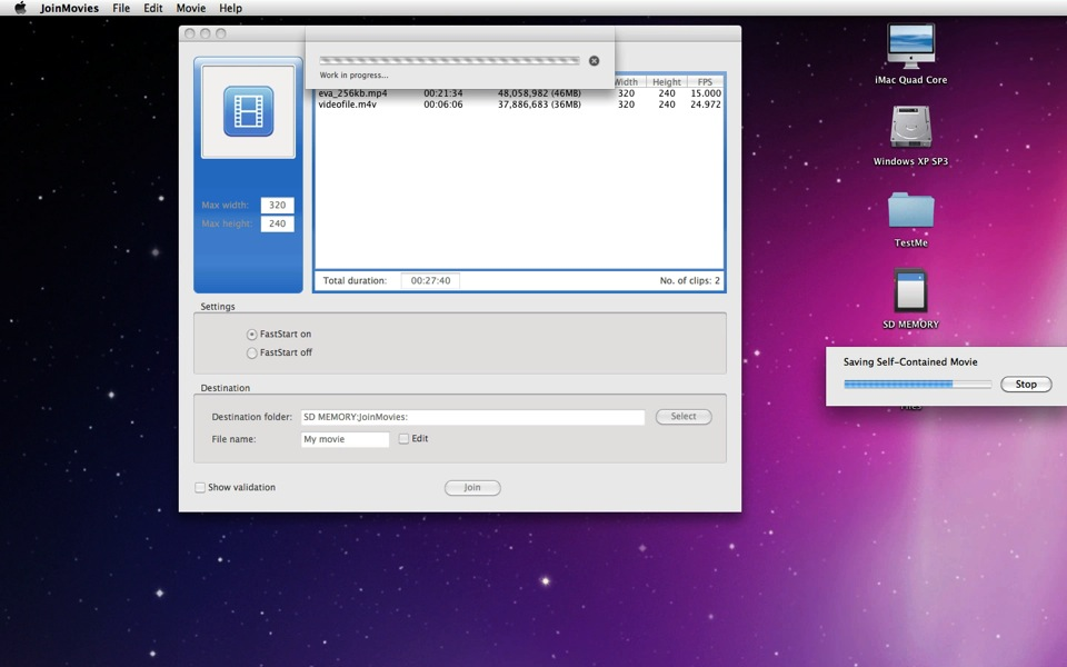Quicktime pro 7 join movies