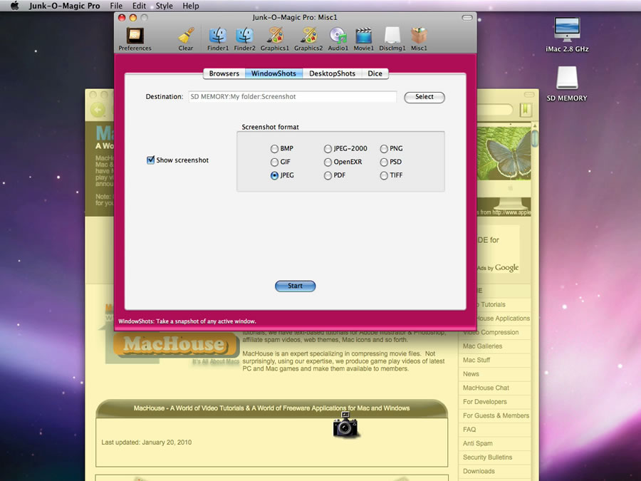 how to take a snapshot of pdf on mac