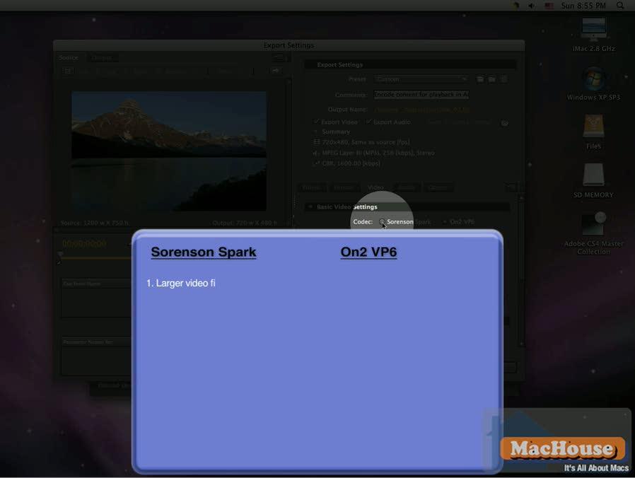 Adobe Flash Media Encoder CS4 Mac video tutorial