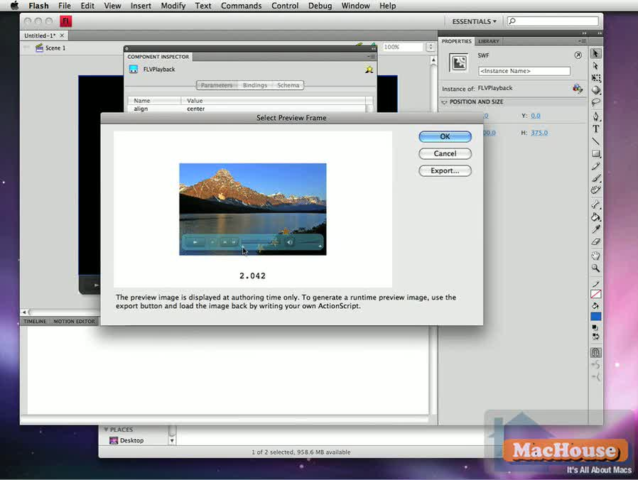 Adobe Flash Media Encoder CS4 Mac video tutorial