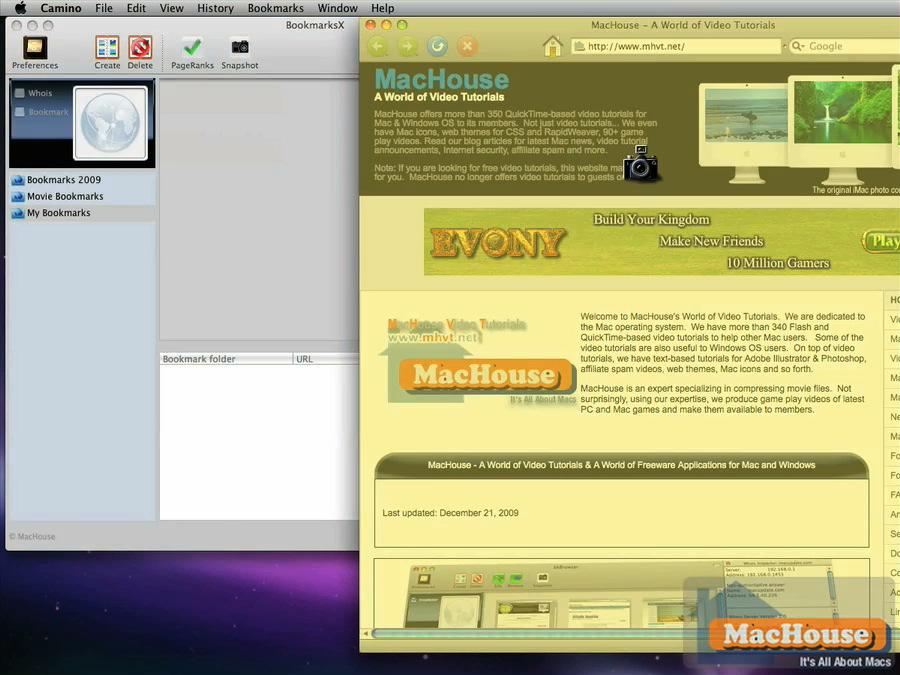 Mac software BookmarksX