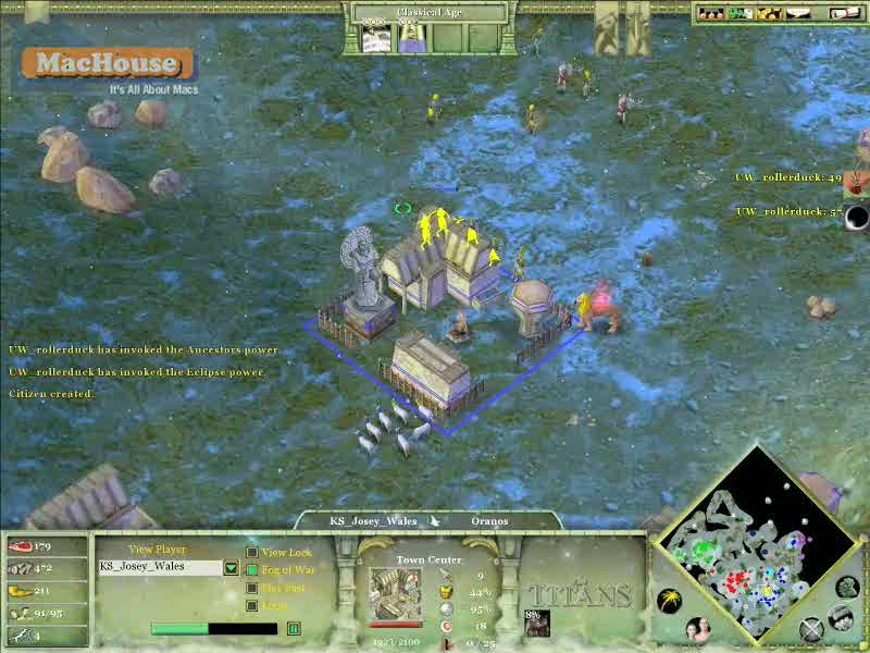 Playing Age of Mythology: The Titans Boot Camp