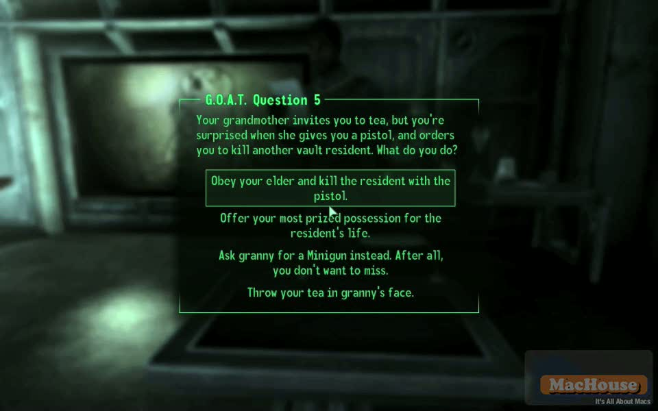 Playing Fallout 3 on Mac Boot Camp Mac