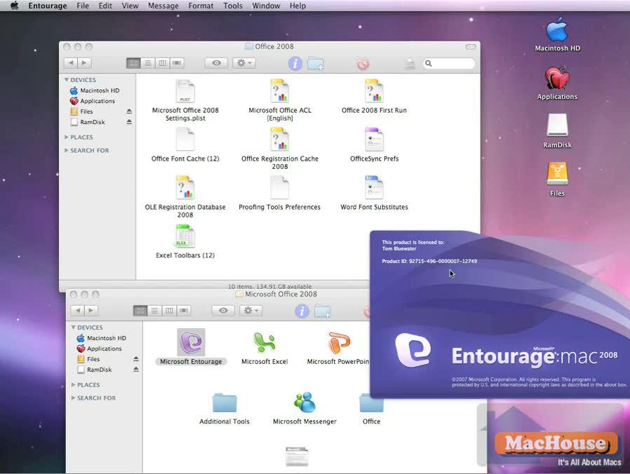 Microsoft Office 2008 Setup Assistant SP1 infinite loop fix video tutorial