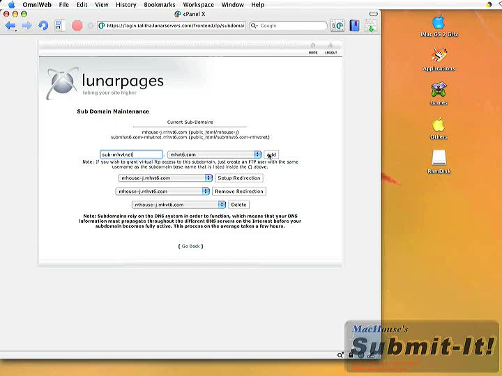 Lunarpages web hosting video tutorials